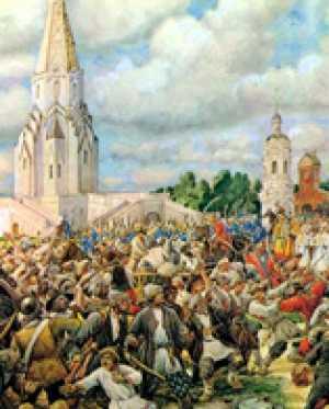 История в живописи. Медный бунт. Картина художника Э. Лисснера